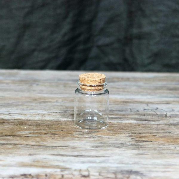 Rund glaskrukke