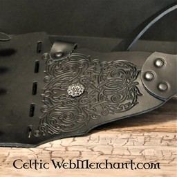 Decorated rapier baldric, black