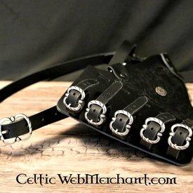 Baldric à pinède décoré, noir