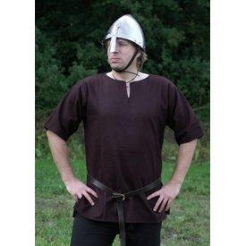 Ulfberth Vikingtuniek met korte mouwen, bruin, M, speciale aanbieding!