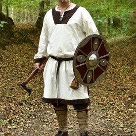 (Tidlig) middelalderlig tunika Clovis, naturlig-brun