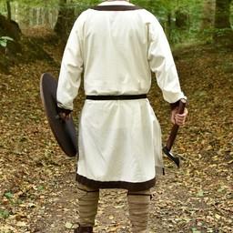 (Vroeg)middeleeuwse tuniek Clovis, naturel-bruin