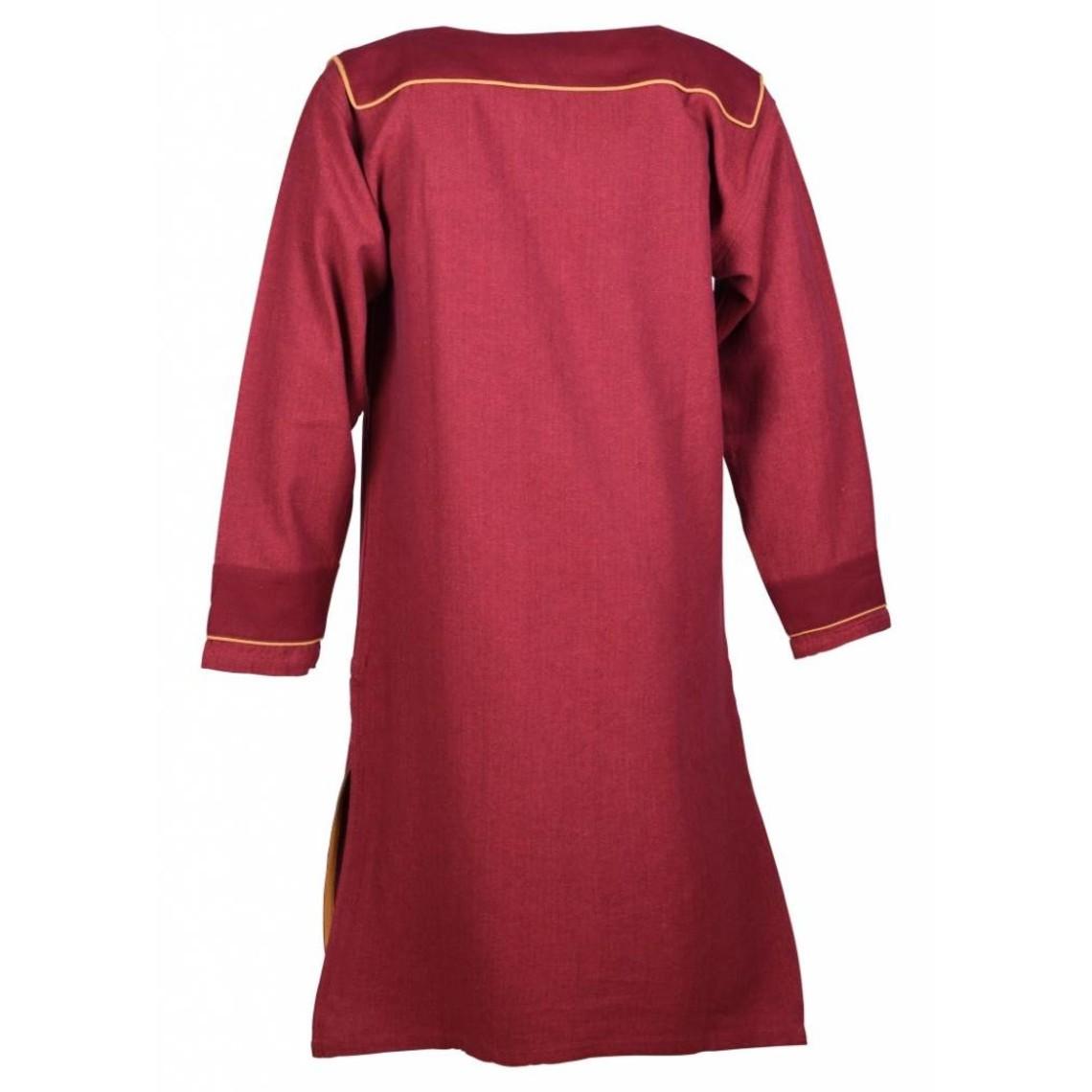 Motivo de espiga de la túnica Thorsberg, rojo.