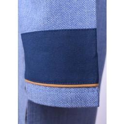 Thorsberg tunic herringbone motif, blue