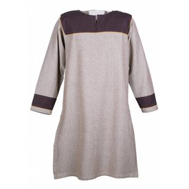 Motivo de espiga de la túnica Thorsberg, marrón.