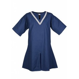 Birka tunic Knut, short sleeves, blue