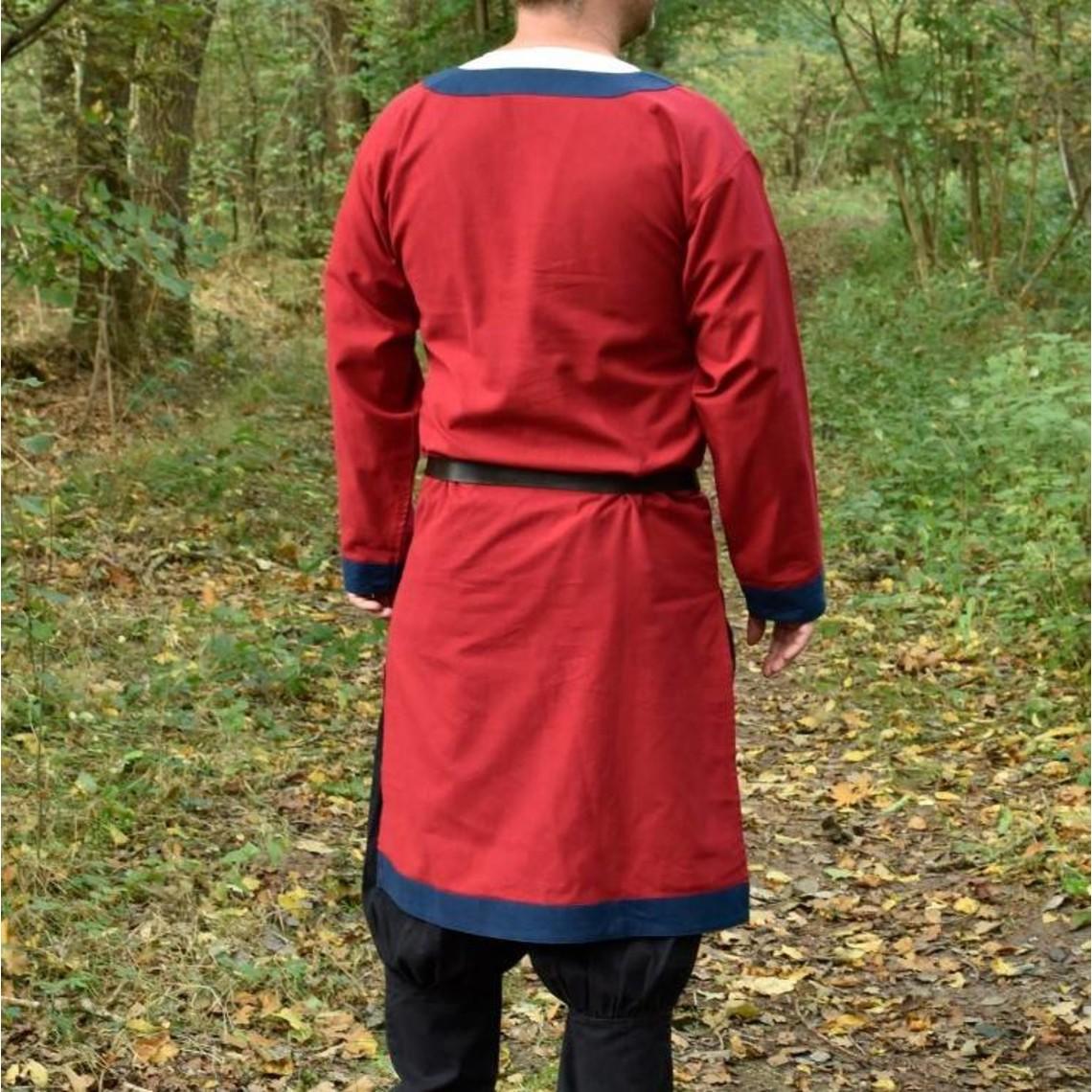 Túnica medieval (Temprano) Clovis, rojo-azul.
