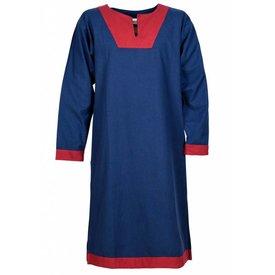 (Wczesna) średniowieczna tunika Clovis, niebiesko-czerwona
