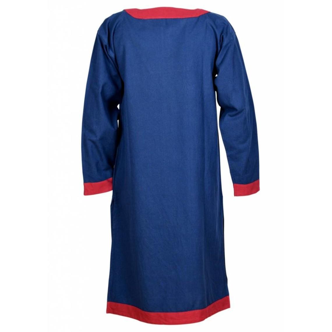 (Early) tunica medievale Clovis, blu-rosso