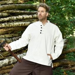 Camisa medieval de Roland, natural.