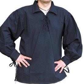 Middelalderlig shirt Rawlin, sort