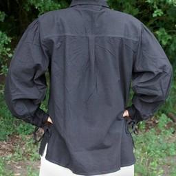 Camisa medieval Rawlin, negra.