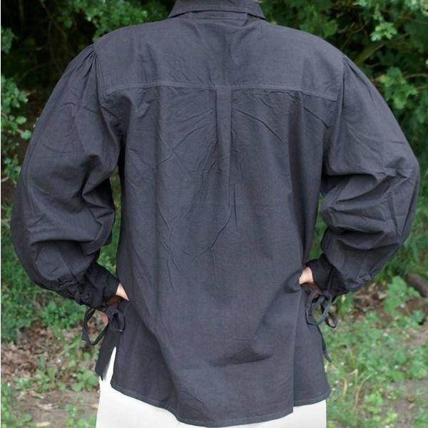 Middeleeuws hemd Rawlin, zwart