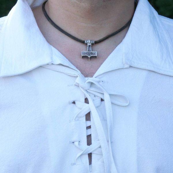 Medieval skjorte Rawlin, naturlig