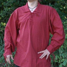Middelalderlig shirt Rawlin, rød