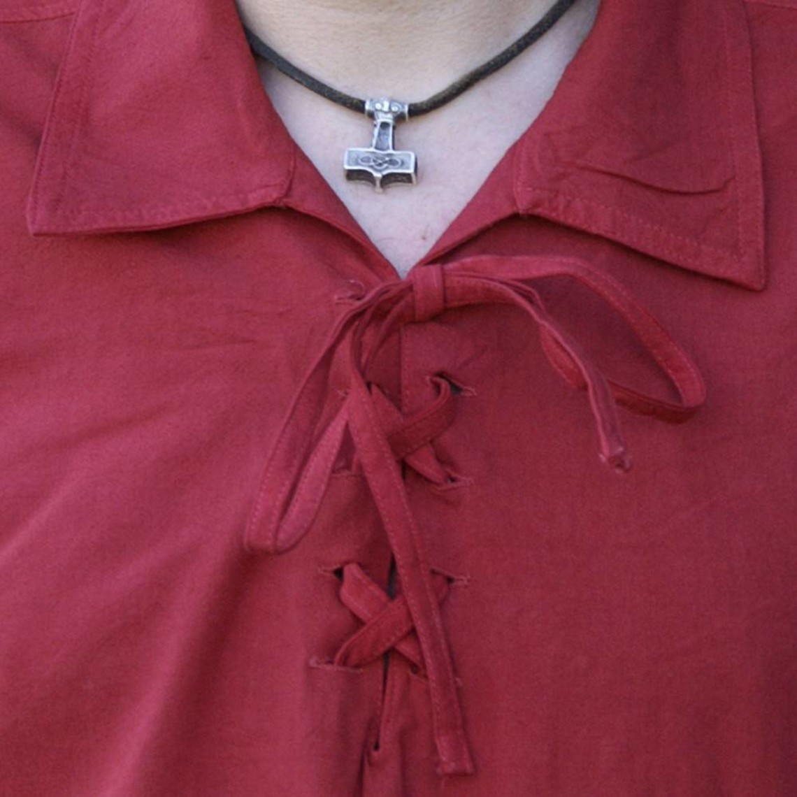 Camicia medievale Rawlin, rossa