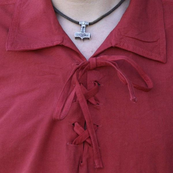 Camisa medieval de rawlin, roja.