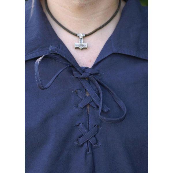 Medieval skjorte Rawlin, blå