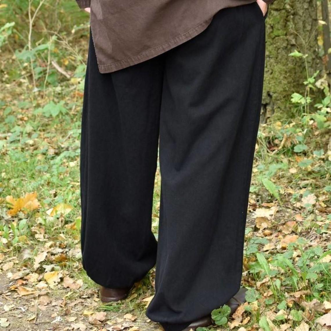 Pantaloni Roger, nero