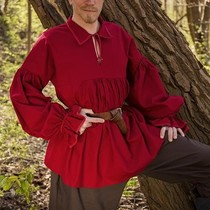 Epic Armoury Camisa pirata Jack, rojo