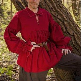 Epic Armoury Camicia pirata Jack, rossa