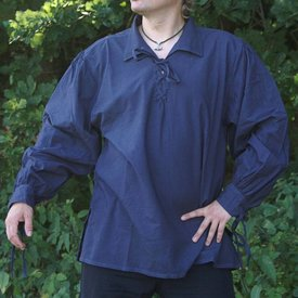 Camicia medievale Rawlin, blu