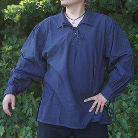 Middelalderlig shirt Rawlin, blå