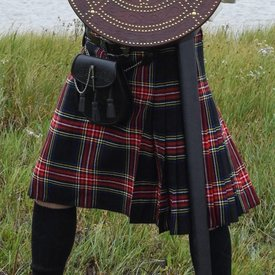 Kilt escocês, preto Stewart