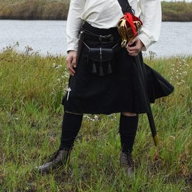 Scottish kilt, black