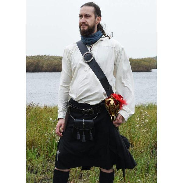 Scottish kilt, black