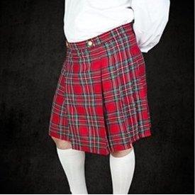 Kilt écossais, rouge-vert