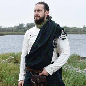 Skotsk plaid tartan, svart klocka