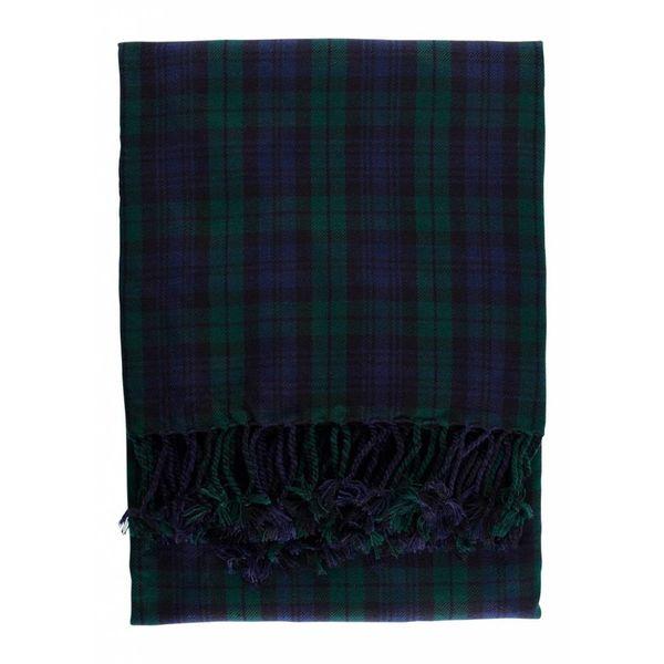 Tartan scozzese scozzese, orologio nero