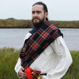 Skotsk plaid tartan, svart Stewart