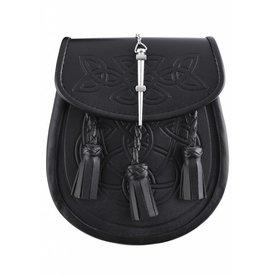 Sporran mit keltischem Motiv, schwarz