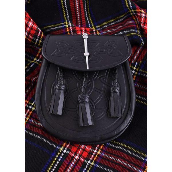 Sporran med Celtic motiv, svart