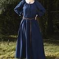 Middeleeuwse onderjurk Matilda, blauw