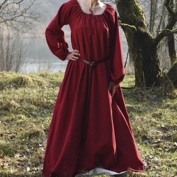 Middeleeuwse onderjurk Matilda, rood