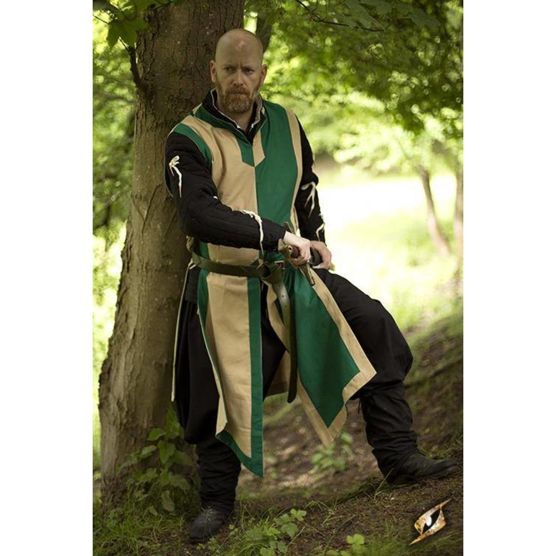 Epic Armoury Tabard Geoffrey, beige-verde