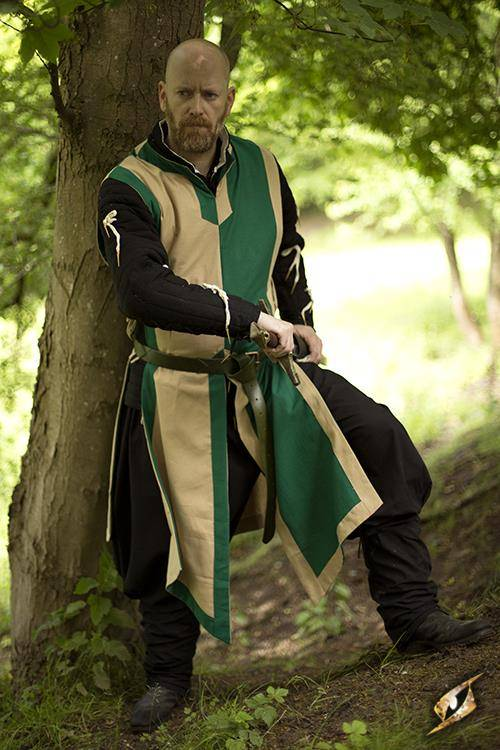 Tabard Geoffrey, beige-vert
