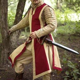 Epic Armoury Tabardo Geoffrey bege-vermelho