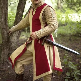 Epic Armoury Wapenrok Geoffrey, beige-rood
