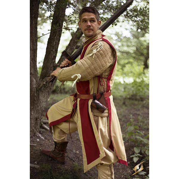 Epic Armoury Tabard Geoffrey, beige-rød