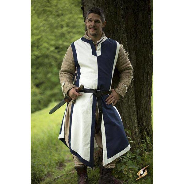 Epic Armoury Tabard Geoffrey, weiß-blau