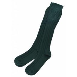 Socken für Kilt, dunkelgrün