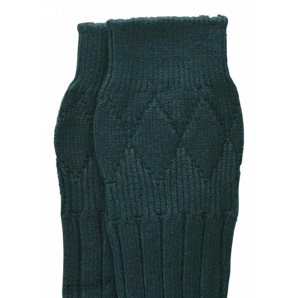 Calcetines para la falda, verde oscuro.