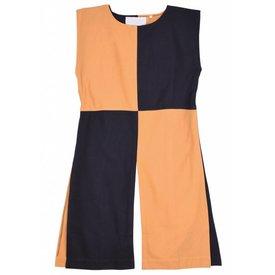 Medeltida Surcoat Rodrick, orange-svart