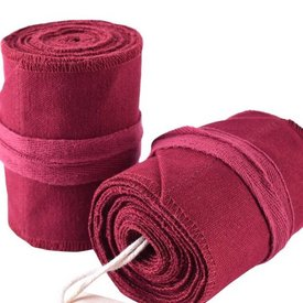 Leg wrappings Ubbe, red