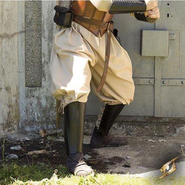 Epic Armoury Spodnie wikingowe Rollo, beżowe