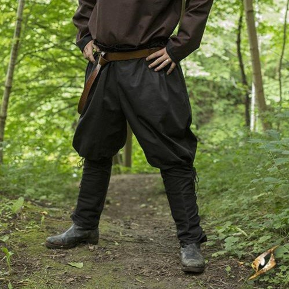 Epic Armoury Pantalon Viking Rollo, noir